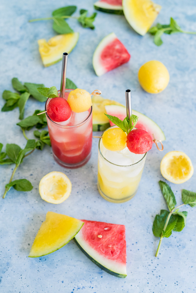 Sparkling Watermelon Lemonade www.pineappleandcoconut.com #nationalwatermelonday