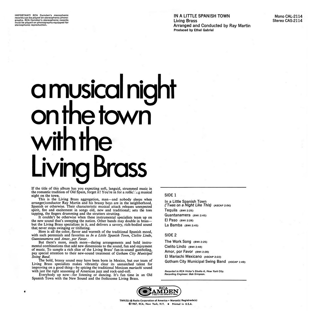 Living Brass - In A Little Spanish Town