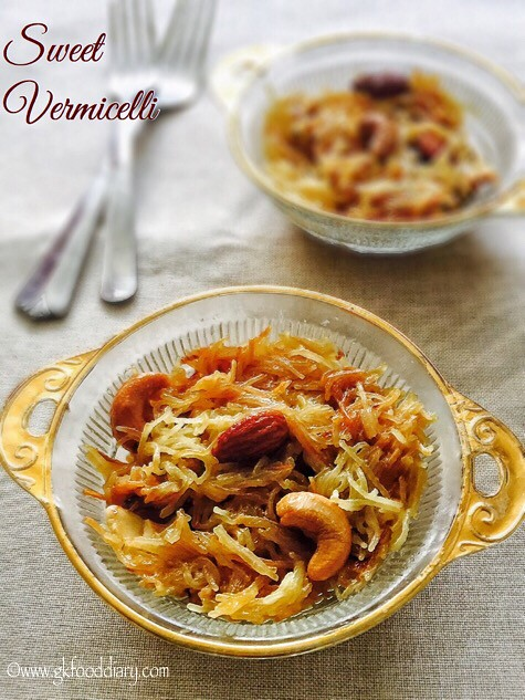 Sweet Vermicelli Recipe for Toddlers and Kids1