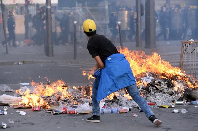 Disturbios en París por hinchas