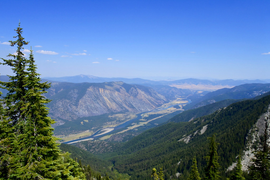 Clark Fork Valley from Eddy Peak