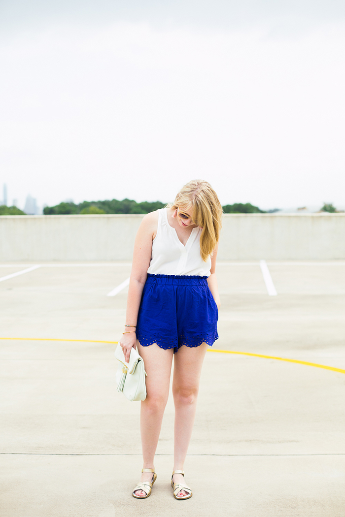easy summer outfit with H&M, Nordstrom, Saltwater Sandals, and Etsy