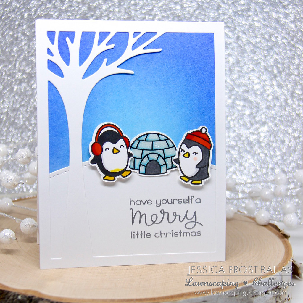 Lawnscaping Winter Penguins