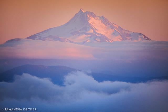 Mt. Jefferson at Sunset