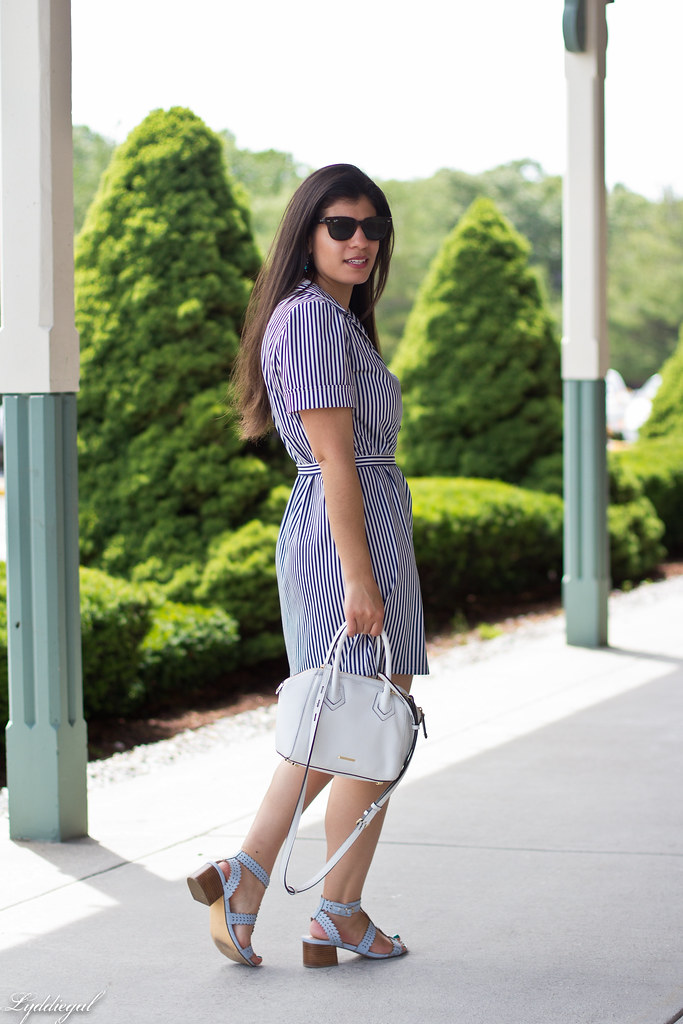 striped shirt dress, blue sandals, white bag-6.jpg