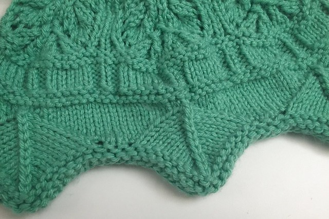 Netherfield Knit Purse WIP