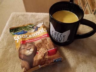 Snackimals and Turmeric Latte