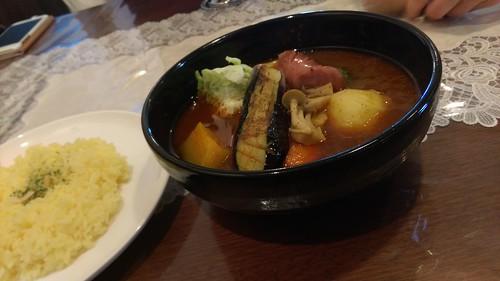 小樽アバンティ、ダムカレー、野菜+ウィンナー