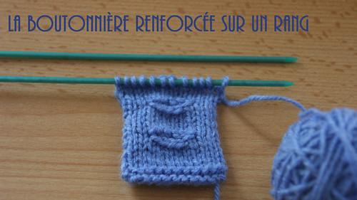 {Vidéo} La boutonnière sur un rang au tricot