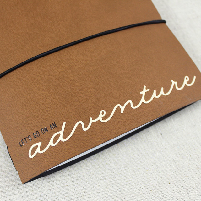 Adventure Journal Outer Cover Close Up