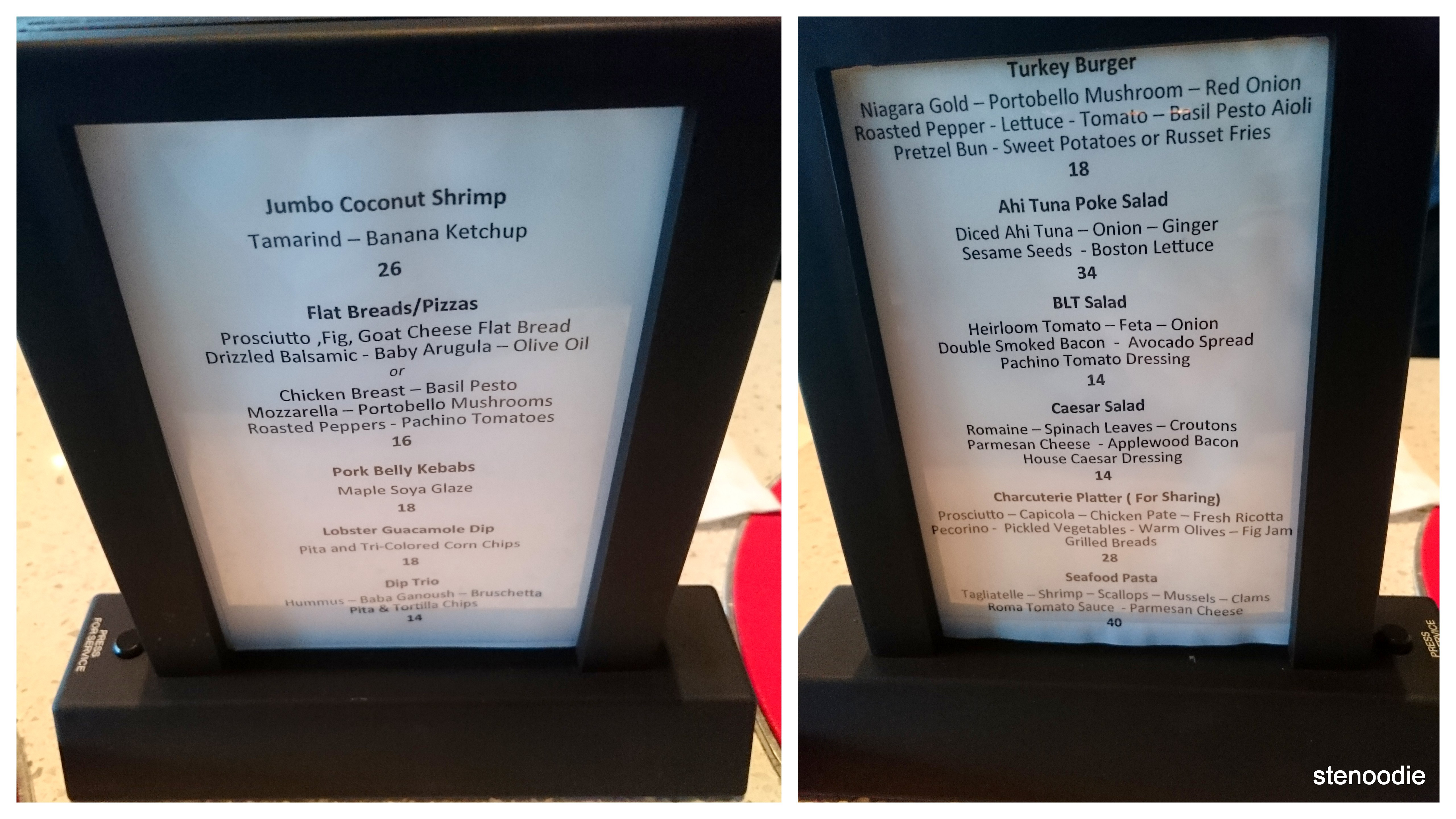 R5 food menu