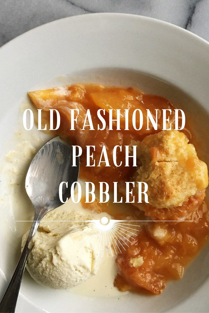 Old Fashioned Peach Cobbler from Kitchen in the Hills. This is a classic southern recipe that's simple to make and perfectly delicious! #peachcobbler #summer #dessert #baking
