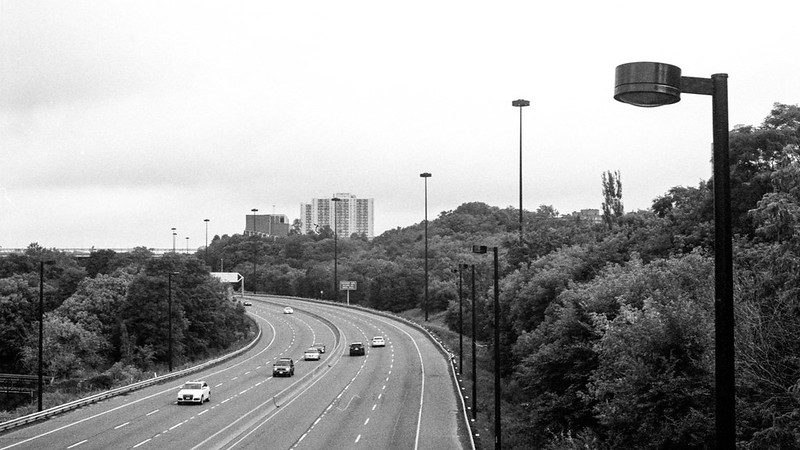 DVP Northbound at the Pedestrian Bridge