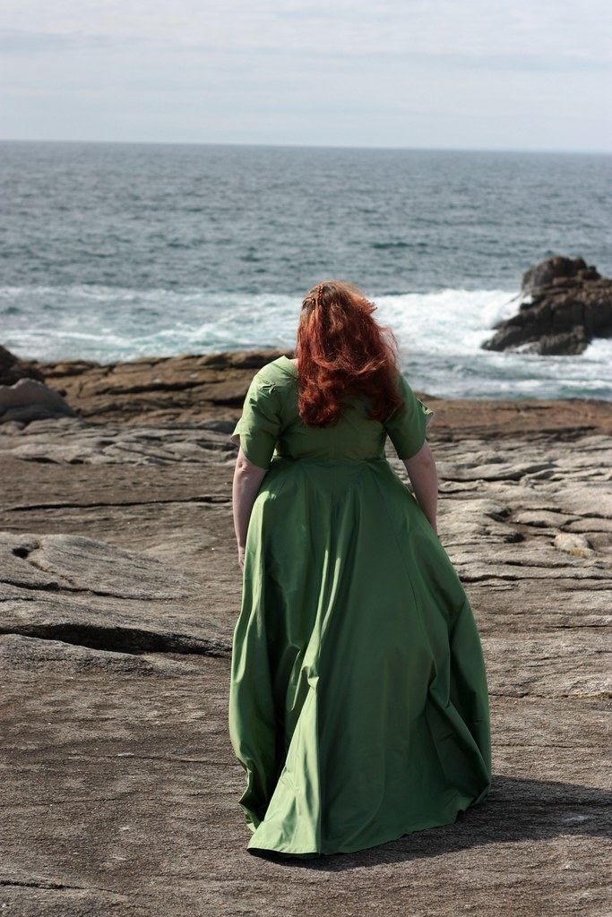 Robe de mariée taffetas de soie vert grande taille