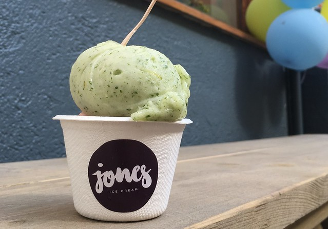 Jones lemon-mint sorbet at opening weekend, Schöneberg, Berlin