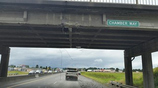 Southbound I-5 - Chamber Way overpass