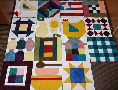 My first 15 FGV blocks. I'm really enjoying this sew along.