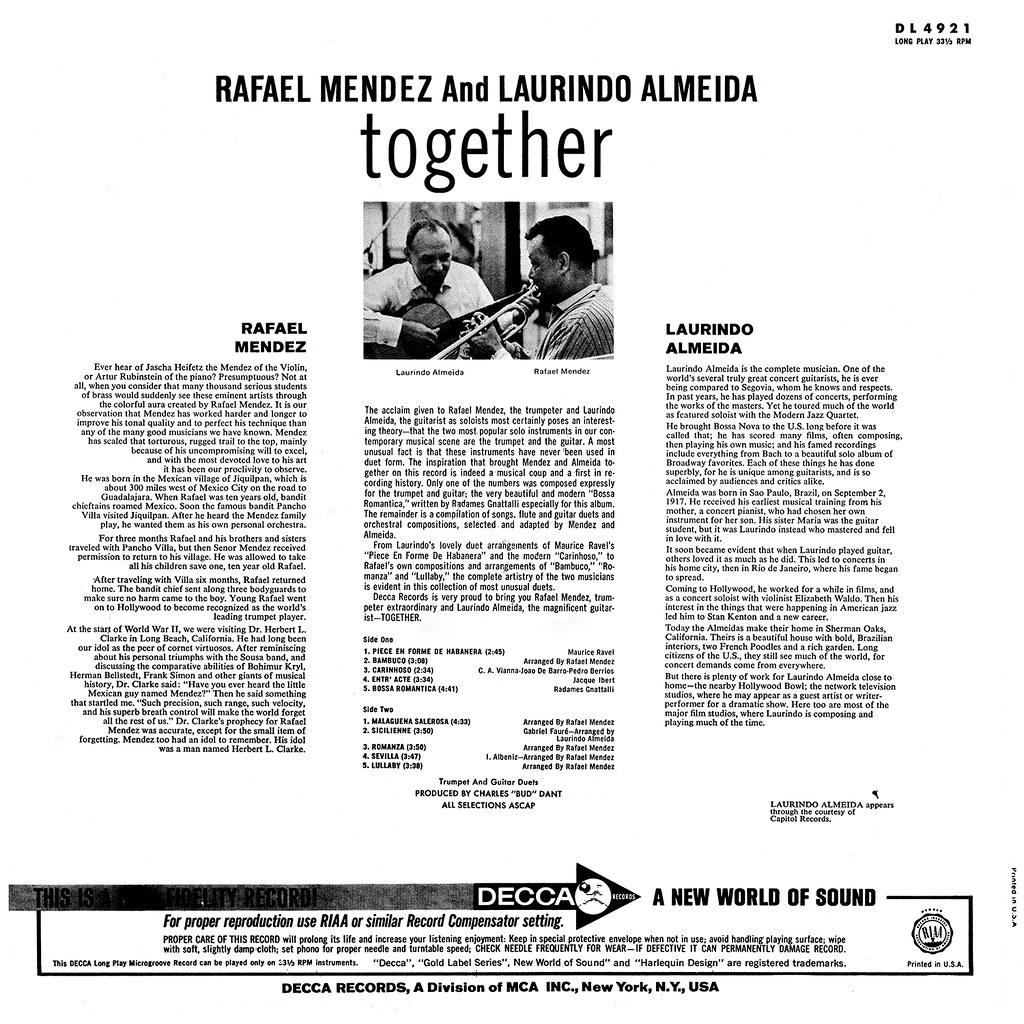 Rafael Mendez And Laurindo Almeida - Together