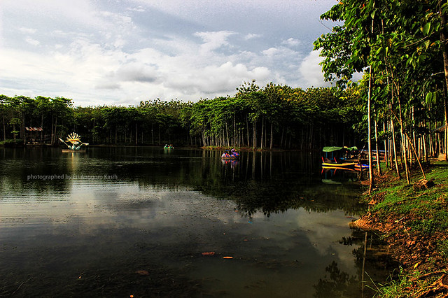 Rest area Kubangkangkung yang memiliki danau yang indah dan sejuk.