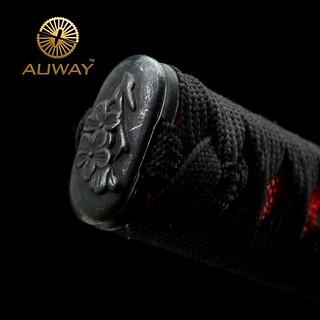 Auway-samurai-sword- Characters-Tsuba-Black-scabbard-knob