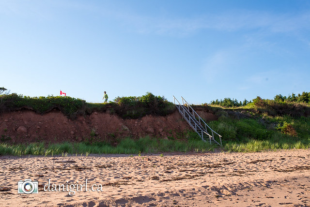 PEI day one: exploring our private beach