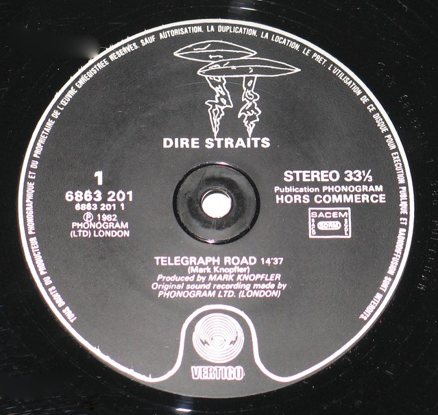 DIRE STRAITS Telegraph Road French Promo