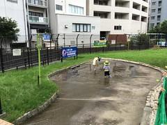 恵比寿タコ公園のじゃぶじゃぶ池 2016.7.16