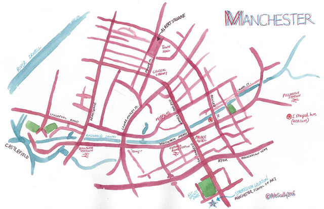 Manchester map from my sketchbook