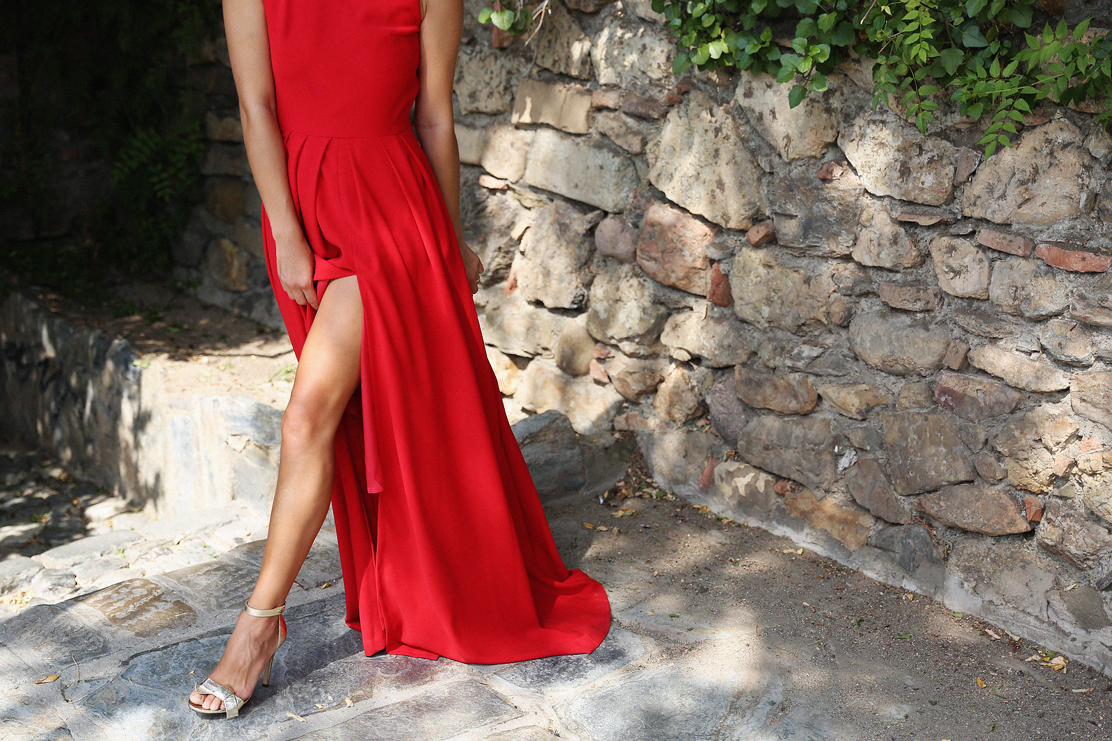 Jessie Chanes Seams for a Desire Apparentia Red Long Dress-6