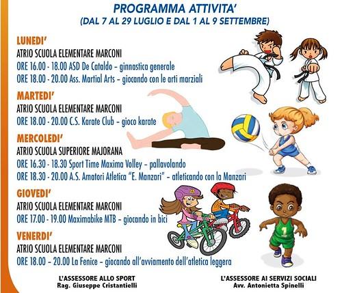 Locandina Estate sport (II parte)