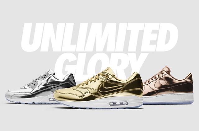 """Para o verão americano a Nike escolheu cinco dos seus principais modelos  para fazer parte da coleção especial chamada """"Unlimited Glory"""". Os tênis da  coleção ... 76864e7051121"""