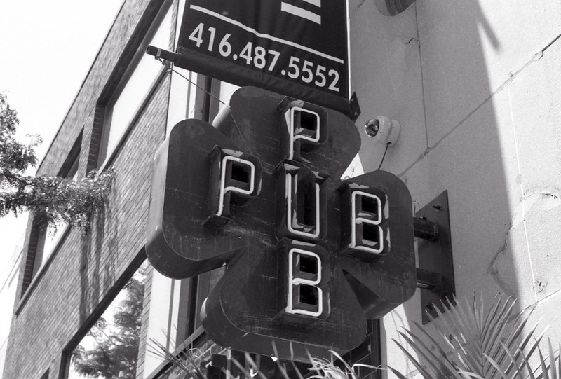 Steel Pub Sign