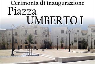 Noicattaro. Inaugurazione piazza Umberto I front