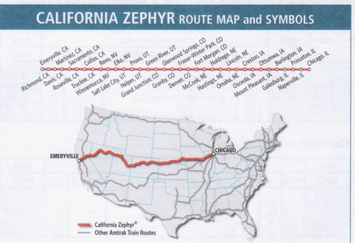 Amtrak California Zephyr 2016 Map