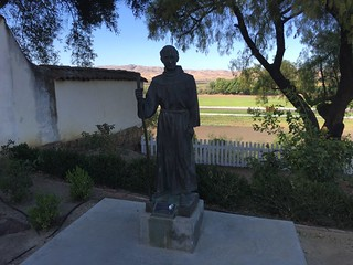 Statue of Junipero Serra, Mission San Juan Bautista, California July 2016