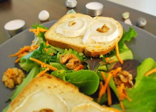 salade chèvre chaud sans gluten