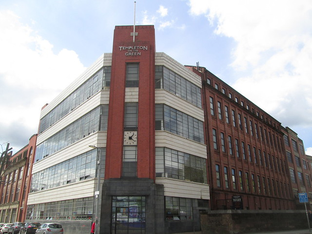 Templeton Carpet Factory, Glasgow, Clocktower Angle