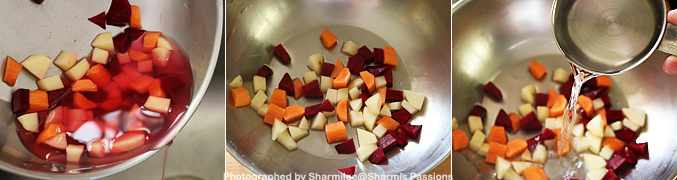 How to make Carrot Potato Beetroot Puree for Babies - Step2