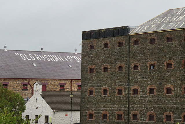 Building at the Bushmills Distillery in Ireland, UK