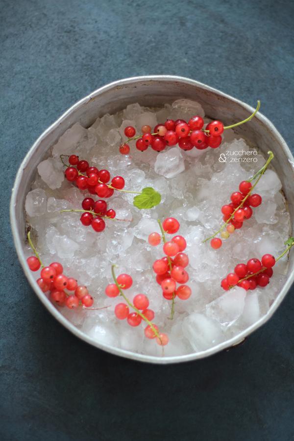 Frozen yogurt su stecco al ribes e cocco