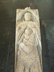 effigy of a priest