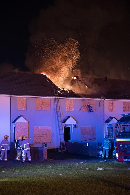 Row House Burning