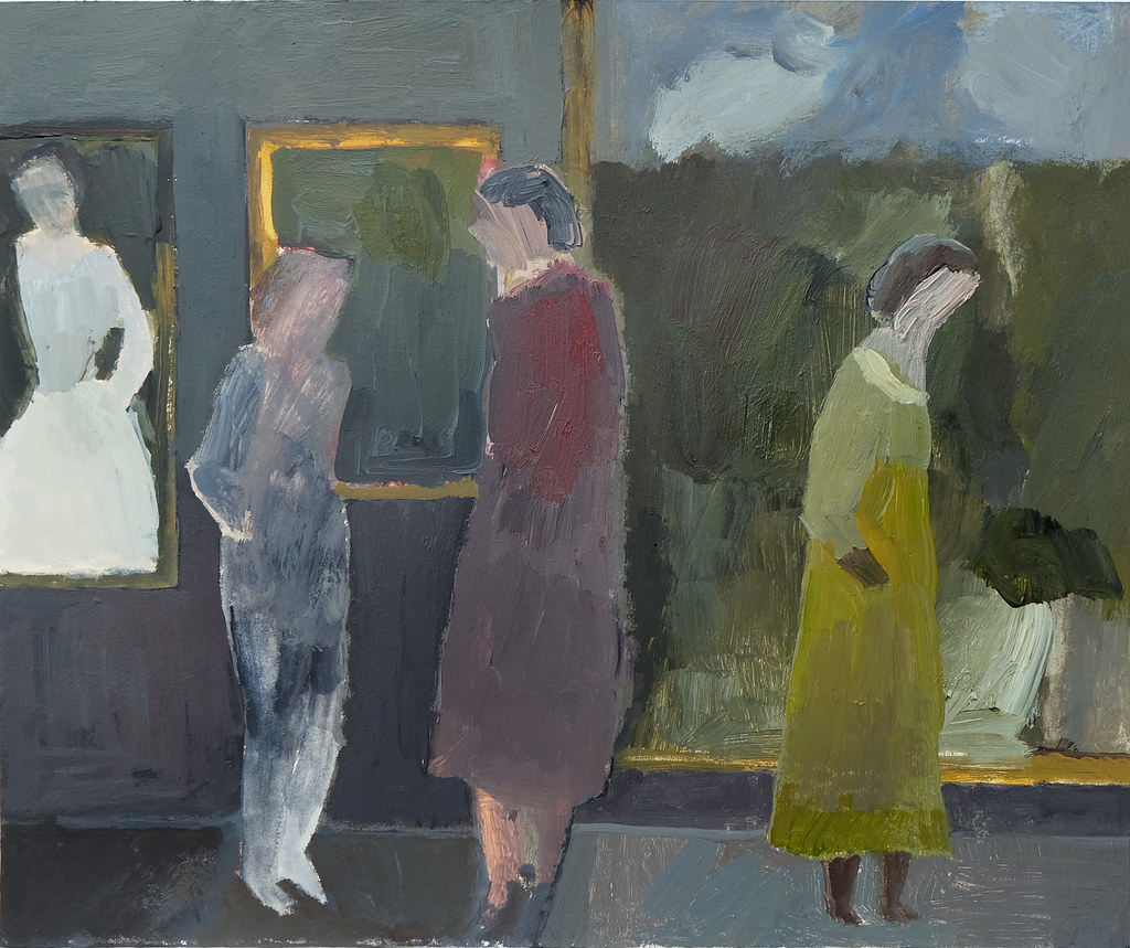 figures at a gallery
