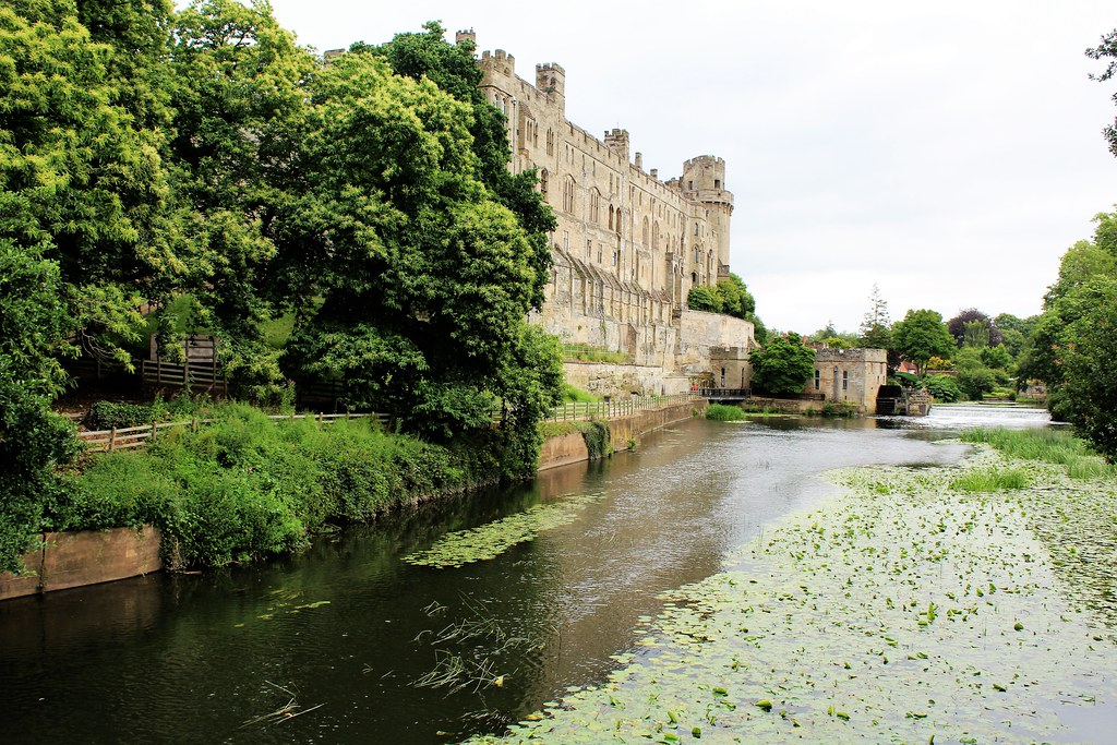 River Avon at Warwick Castle, England.