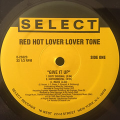 RED HOT LOVER LOVER TONE:GIVE IT UP(LABEL SIDE-A)