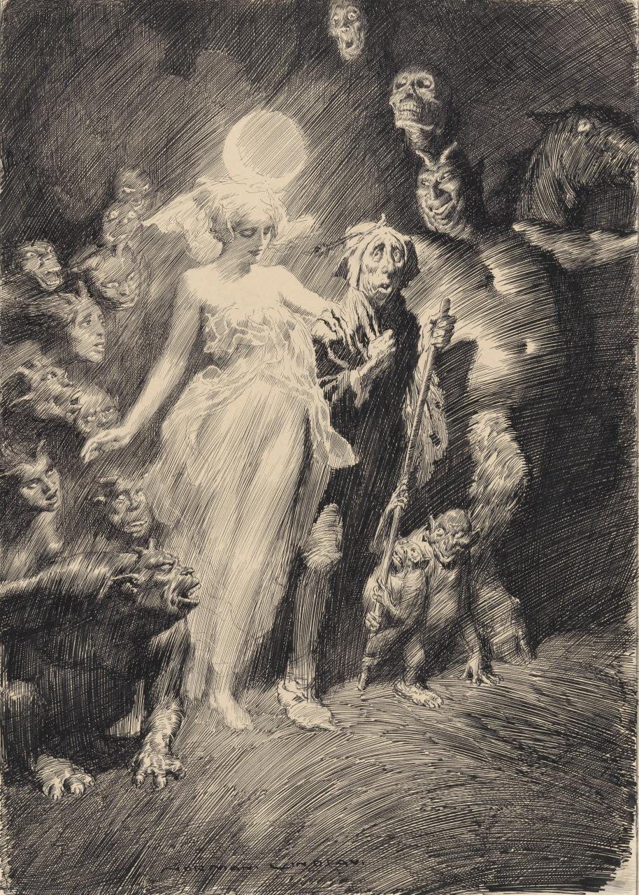 Norman Lindsay - Tom O'Bedlam, 1918