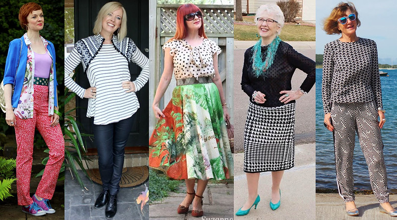 Fashion bloggers in mixed patterns #iwillwearwhatilike