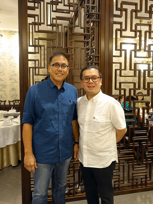 XIU Fine Cantonese Dining Restaurant- owner Peter Chua and Lawrence Koo from West Villa HK