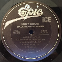 EDDY GRANT:WALKING ON SUNSHINE(LABEL SIDE-B)