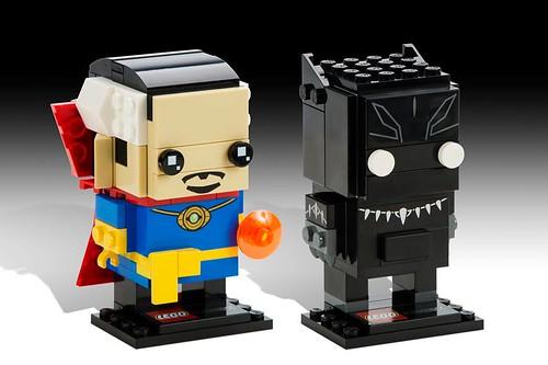 LEGO Marvel BrickHeadz Dr Strange & Black Panther